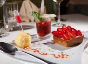 Tartelette aux fraises - Sorbet fruits de la passion